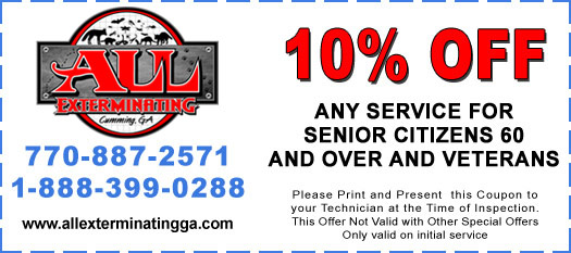 10% Off Any Service for Senior Citizens 60 and Over and Veterans